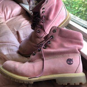 Timberland Boots- Pink Women's